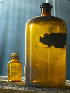 Flasche kolloidal silber gold antibiotikum
