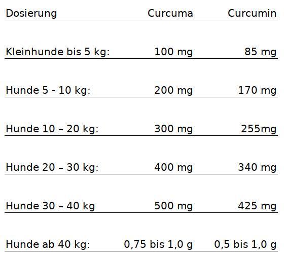 Dosierung Erfahrung Hunde Katze Curcuma Curcumin Kurkuma Kurkumin